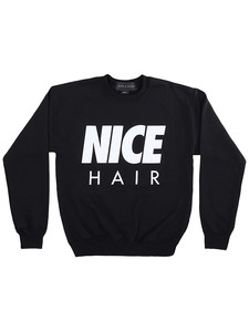 Alex & Chloe Nice Hair Black/White Unisex Jumper