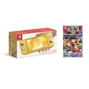 Nintendo Switch Lite Yellow + Mario Kart 8 Deluxe