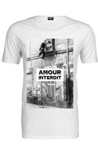 Foy Paris Amour Interdit Basic Ss White Men's T-Shirt