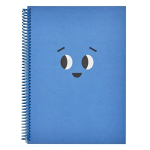 Kikki.K A4 Everyday Spiral Notebook Smile Azure Blue