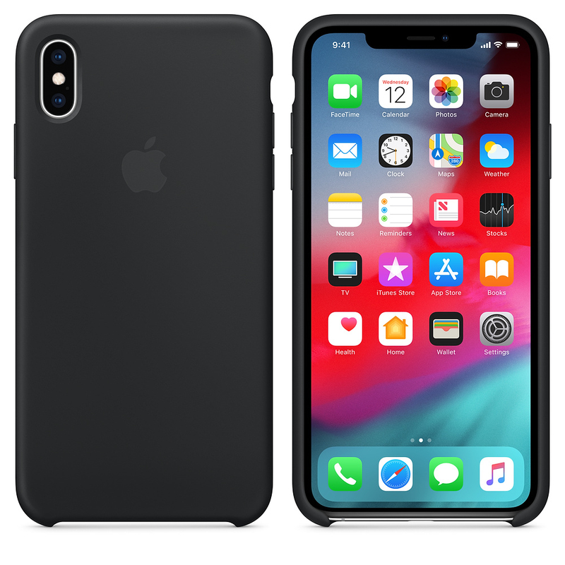 release date: ce186 a610a Apple Silicone Case Black for iPhone XS Max