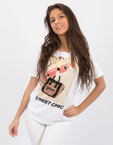 Foy Paris Street Chic Boyfriend White T-Shirt