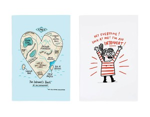 Ohh Deer Introverts Heart/Hey Everyone A5 Notebook [Pack of 2]