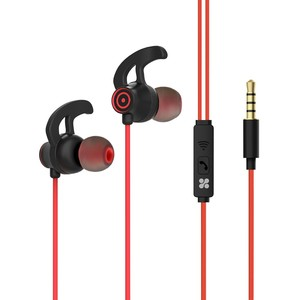 Promate Swift Red Heavy Bass Wired Earphones with In-Line Mic