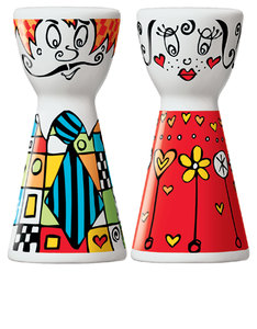 Ritzenhoff Mr. Salt & Mrs. Pepper Marie Peppercorn Salt & Pepper Mill Set [2003]