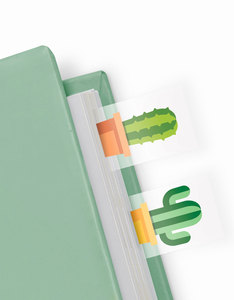 Mustard Cactus Shaped Page Markers [100 Sheets]