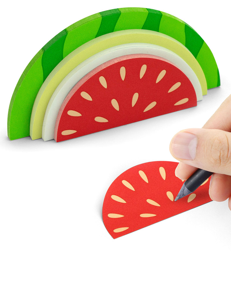 Mustard Watermelon Shaped Sticky Notes [150 Sheets]