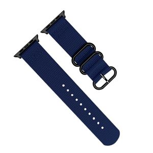Promate Nylox-38 Blue Trendy Nylon Fiber with Metal Deployment Buckle for 38mm Apple Watch