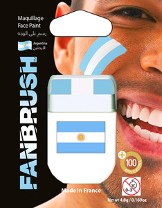Fanbrush Argentina Flag Face Paint