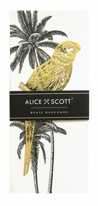 Alice Scott Brass Parakeet Bookmark