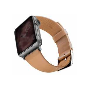 Viva Madrid Montre Allure Leather Strap 42/44Mm Light Brown/Silver For Apple Watch