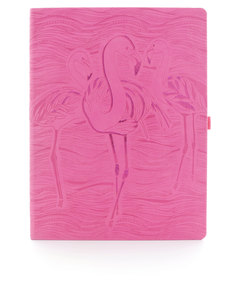 Ivory Flamingo Pink Desk Notebook