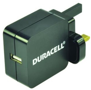 Duracell Dual USB 4.8A Micro USB Black Mains Charger
