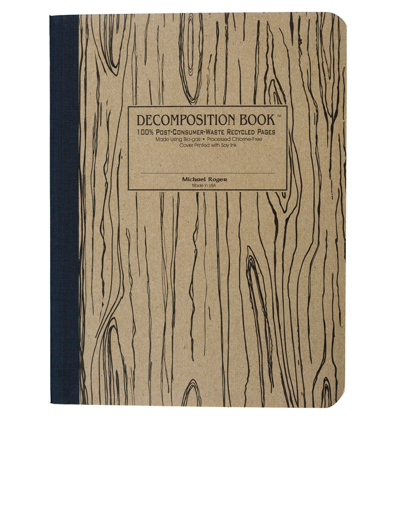 Decomposition Notebook Woodgrain One Color [Large] | Notebooks | Notebooks  + Journals | Stationery | Virgin Megastore