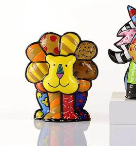 Romero Britto Mini Lion Figurine