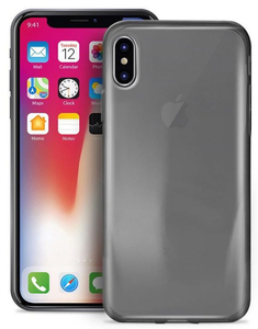 PURO 0.3 NUDE TPU ULTRA-SLIM CASE BLACK FOR IPHONE X