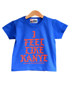 Nippaz With Attitude I Feel Like Kanye Royal Blue/Red Kids T-Shirt