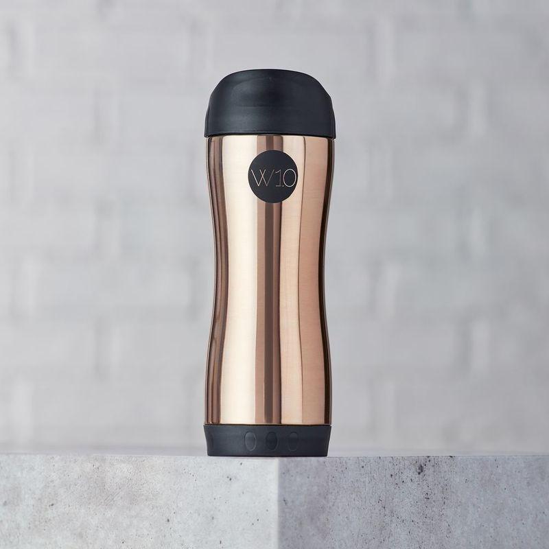 W10 Riley Copper Push Button Travel Mug 400ml