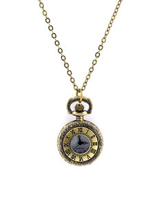 Oh Hello Friend Pocket Watch Roman Numeral Necklace