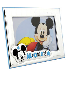 Disney Mickey Mouse Landscape Photo Frame Silver/Blue [9x13cm]