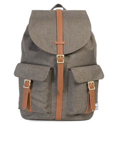 Herschel Dawson Canteen Crosshatch/Tan Synthetic Leather Backpack