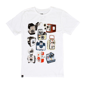 Dedicated Retro Cameras White  Printed Men's T-Shirt