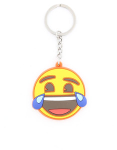 Emoji Laughter Crying Face Keychain