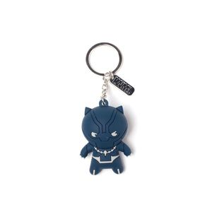 Difuzed Black Panther Kawaii 3D Rubber Keychain