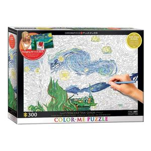 Eurographics Color Me Starry Night By Van Gogh 300 Pcs Jigsaw Puzzle