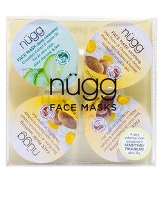 Nugg Beauty 4 Day Comfort Boost Multi-Masking Set For Sensitive Or Troubled Skin 10ml [4 Pack]