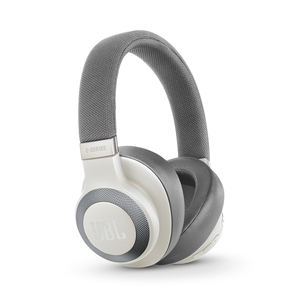 JBL E65 Noise Cancelling White Bluetooth Headphones