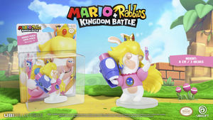 Mario + Rabbids: Kingdom Battle - Rabbid Peach / Lapin Peach: 3 Inches Figurine