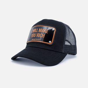 John Hatter & Co I Will Make You Rich Unisex Cap Black