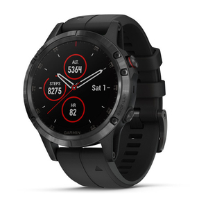 Garmin Fenix 5 Plus Sapphire Black with Black Band GPS Watch