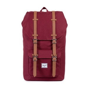 59e9f0646b9a Herschel Little America Windsor Wine Tan Synthetic Leather Backpack