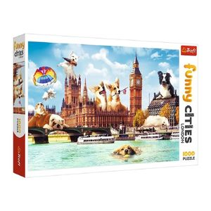 Trefl Funny Cities Dogs In London Jigsaw Puzzle [1000 Pcs]