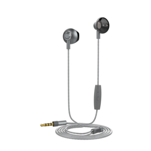 Muvit M1B 3.5mm Steel Dark Grey In-Ear Earphones with Mic