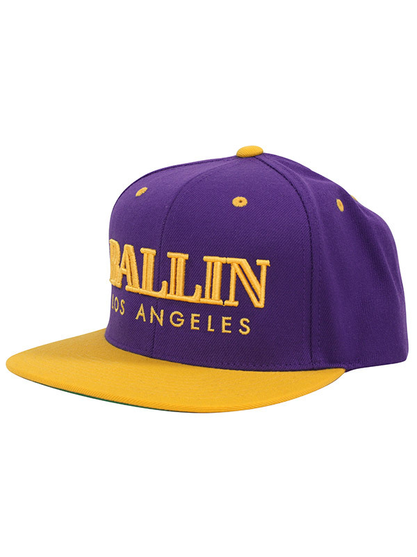 Alex & Chloe Ballin Los Angeles Purple/Yellow Snapback Cap