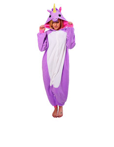 Purple Unicorn Kigurumi Fleece Costume