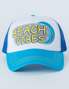 B180 Beach Vibes Blue/White Unisex Cap