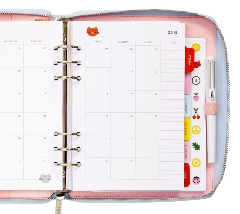 picture about Cute Planners and Organizers named kikki.K 2019 Period Planner Weighty Lovable