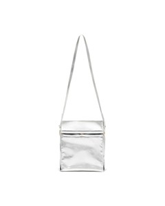 Ban.Do What's For Lunch? Metallic Silver Crossbody Bag