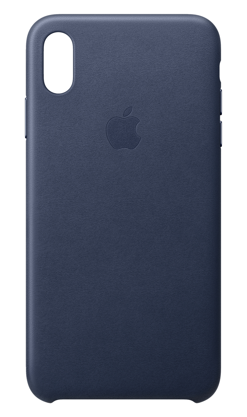 newest b2380 7bebc Apple Leather Case Midnight Blue for iPhone XS Max