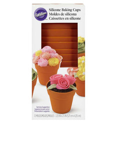Wilton Flower Pot Silicone Baking Cup [Pack of 12]
