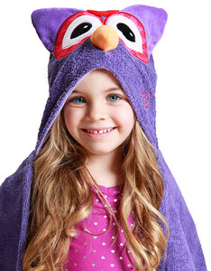 Zoocchini Olive The Owl Purple Bath Towel