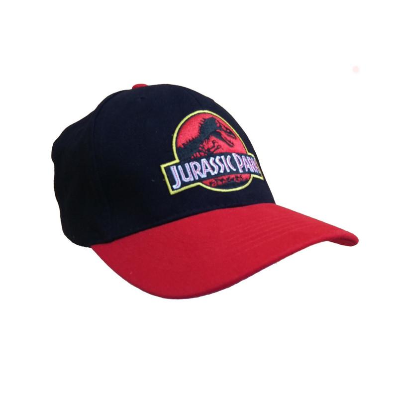 Time City Jurassic Park Logo Flexfit Black Cap  e4a18fa0698