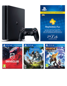 Sony PS4 500GB +Drive Club +Horizon Zero Dawn +Ratchet & Clank +3 Months PS Plus [Bundle]