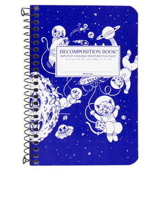 Decomposition Notebook Kittens In Space Two Color [Pocket]