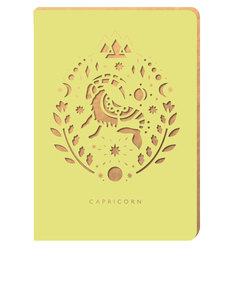 Portico Design Capricorn Zodiac Yellow A6 Notebook
