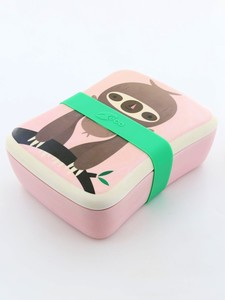 Petit Monkey Bamboo Lunchbox Sloth Pink
